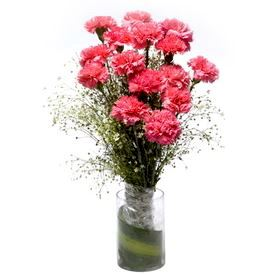 Glass Vase with Fresh Flower Arrangement 11